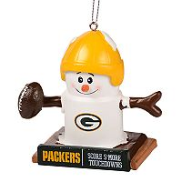 Forever Collectibles Green Bay Packers S'more Snowman Christmas Ornament