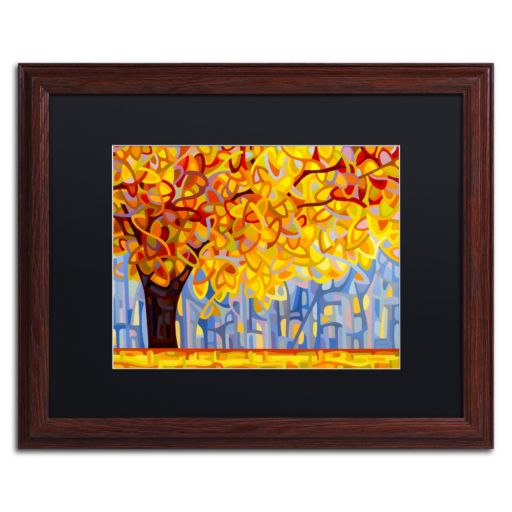 "Trademark Fine Art ""October Gold"" Wood Finish Matted Framed Wall Art"