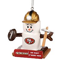 Forever Collectibles San Francisco 49ers S'more Snowman Christmas Ornament