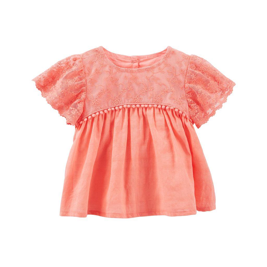 Baby Girl OshKosh B'gosh® Lace Flutter Top