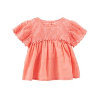 Baby Girl OshKosh B'gosh® Lace Flutter Top