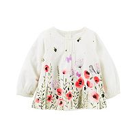 Baby Girl OshKosh B'gosh® Floral Pintuck Top