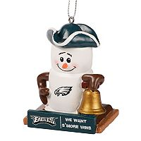 Forever Collectibles Philadelphia Eagles S'more Snowman Christmas Ornament