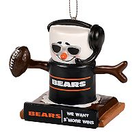Forever Collectibles Chicago Bears S'more Snowman Christmas Ornament