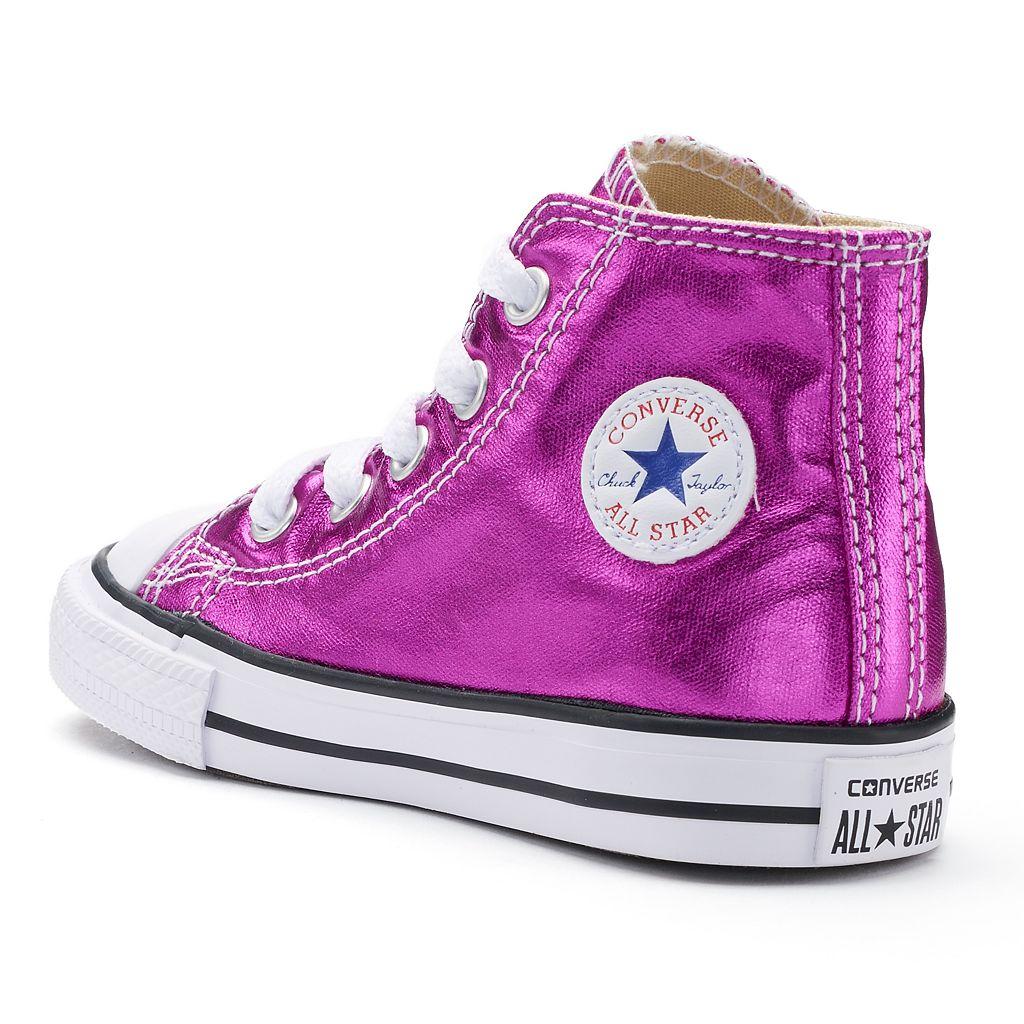 Toddler Converse Chuck Taylor All Star Metallic High-Top Sneakers