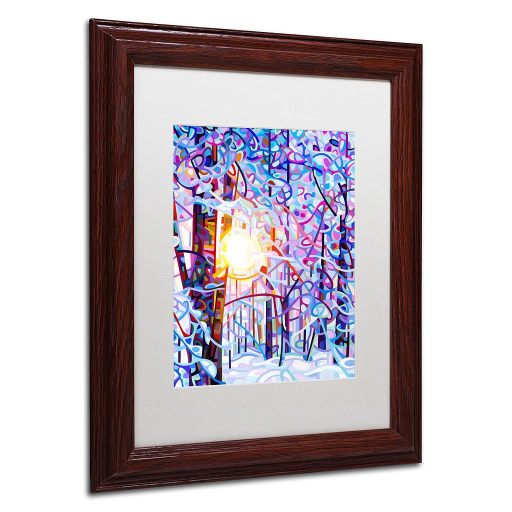 Trademark Fine Art Early Riser Wood Finish Matted Framed Wall Art