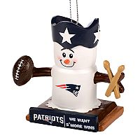 Forever Collectibles New England Patriots S'more Snowman Christmas Ornament