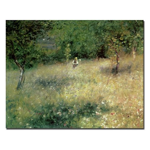"Trademark Fine Art ""Spring at Catou 1872-5"" Canvas Wall Art by Pierre Renoir"