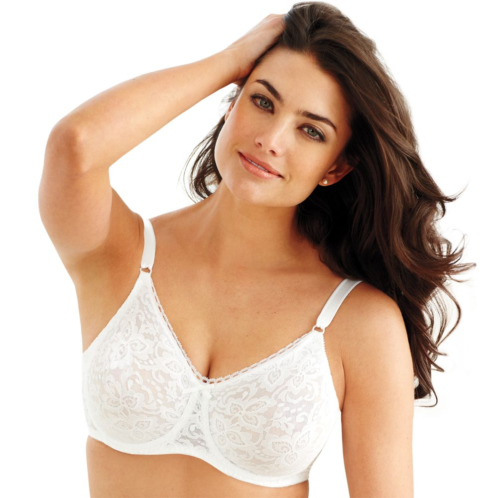 Bra: Lace 'n Smooth Comfort-U Back Full-Figure Bra 3432