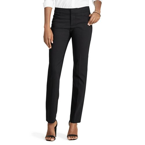 Women's Chaps Solid Straight-Leg Pants