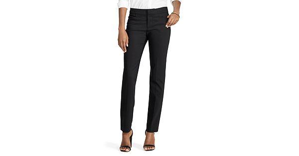 Women S Chaps Solid Straight Leg Pants