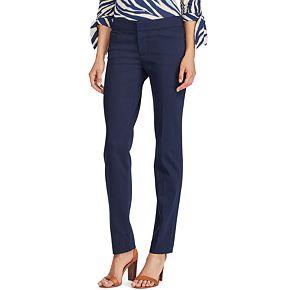 Women's Chaps Solid Straight-Leg Pants