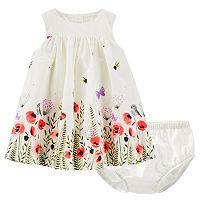 Baby Girl OshKosh B'gosh® Floral Poplin Dress