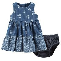Baby Girl OshKosh B'gosh® Printed Chambray Dress