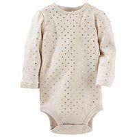 Baby Girl OshKosh B'gosh® Foil Heart Bodysuit