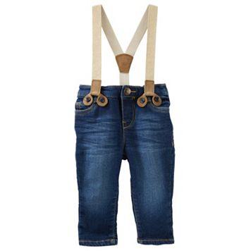 Baby Girl OshKosh B'gosh® Sparkle Suspender Jeans