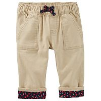 Baby Girl OshKosh B'gosh® Floral Cuffed Pants