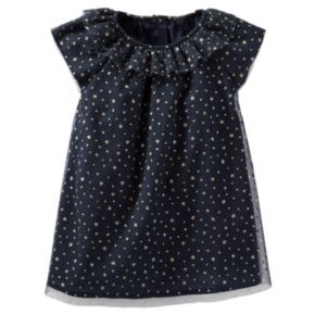 Baby Girl OshKosh B'gosh® Sparkle Star Print Tulle Dress
