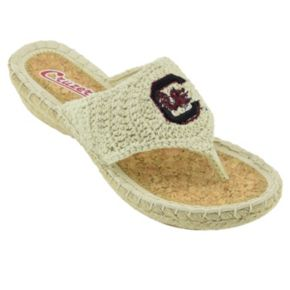 Women's Campus Cruzerz South Carolina Gamecocks Pregame Flip-Flops