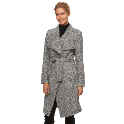 Triple Star Marled Wrap Sweater Coat