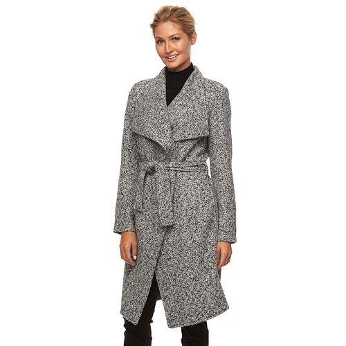 Triple Star Marled Wrap Sweater Coat