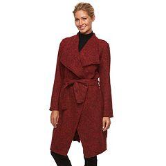 Women's Triple Star Marled Wrap Sweater Coat
