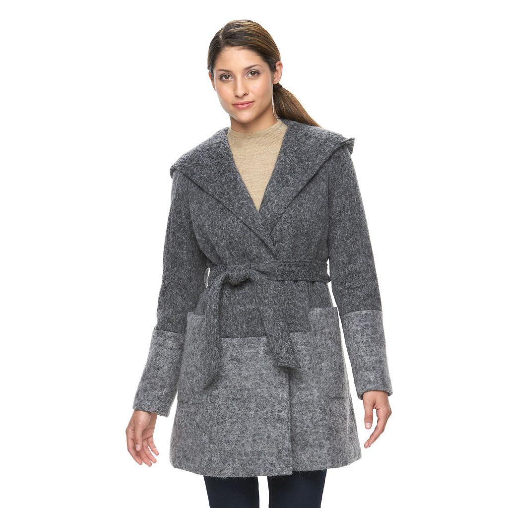 Women's Triple Star Wrap Front Wool Blend Jacket