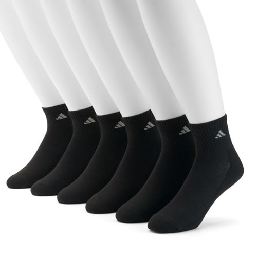 Men's adidas 6-pack climalite Cushioned Performance Quarter Socks