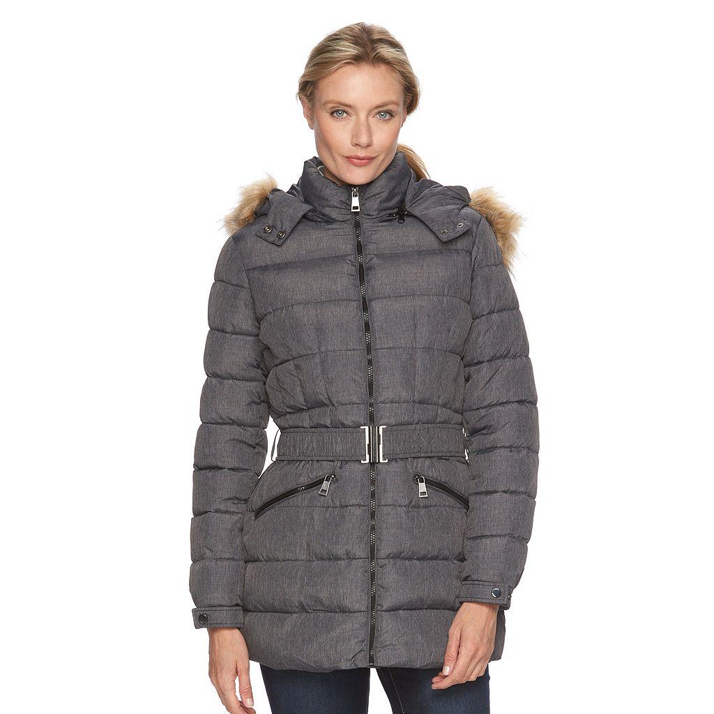 Women's Triple Star Hooded Puffer Coat