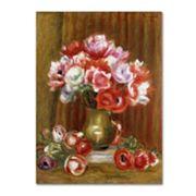 Trademark Fine Art 'Anemones 1909' Canvas Wall Art by Pierre Renoir