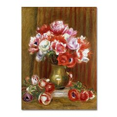 Trademark Fine Art 'Anemones 1909' Canvas Wall Art by Pierre Renoir