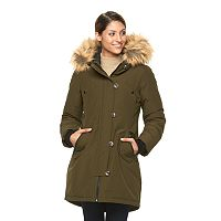 Women's Triple Star Anorak Parka with Faux Fur Collar
