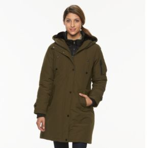 Women's Triple Star Faux Fur Collar Anorak Parka