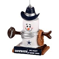 Forever Collectibles Dallas Cowboys S'more Snowman Christmas Ornament