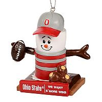 Forever Collectibles Ohio State Buckeyes S'more Snowman Christmas Ornament