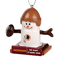 Forever Collectibles Washington Redskins S'more Snowman Christmas Ornament