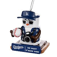 Forever Collectibles Los Angeles Dodgers S'more Snowman Christmas Ornament