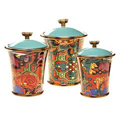 Tracy Porter Eden Ranch 3 pc Ceramic Canister Set