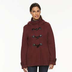 Women's Sebby Collection Hooded Toggle Fleece Jacket