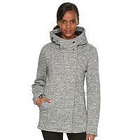 Women's Sebby Collection Hooded Marled Fleece Jacket