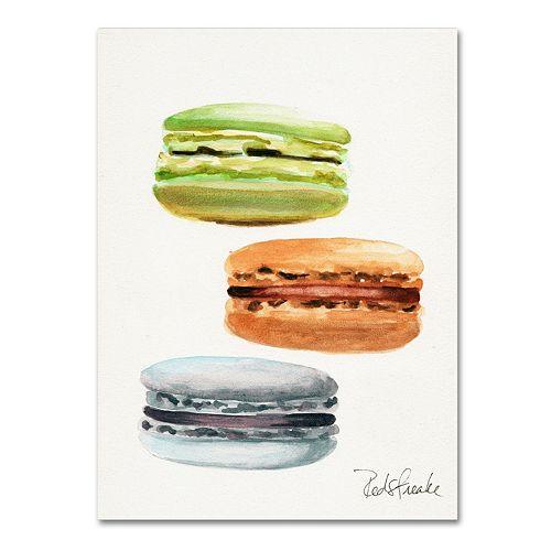 Trademark Fine Art 3 Macarons No Words Canvas Wall Art