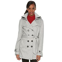 Women's SEB Hooded Fleece Double-Breasted Trench Jacket