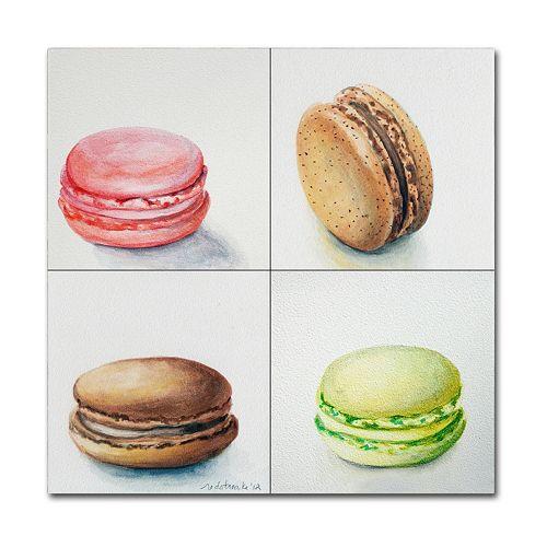 Trademark Fine Art 4 Macarons Canvas Wall Art