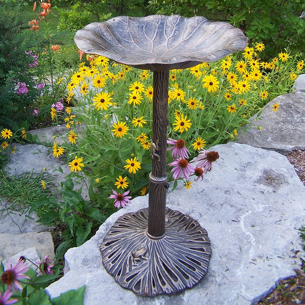Lily Bird Bath