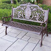 Golfer Cast Aluminum Outdoor Bench