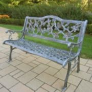 English Rose Cast Aluminum Bench