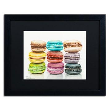 Trademark Fine Art 9 Macarons Matted Black Framed Wall Art