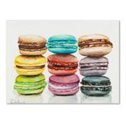 Trademark Fine Art 9 Macarons Canvas Wall Art