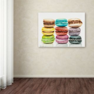 Trademark Fine Art 9 Macarons Canvas Wall Art