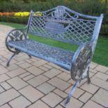God Bless America Cast Aluminum Bench